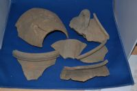 An interesting group of 6 large fragments from sizeable Roman terracotta pots and urns, found in Suffolk. SOLD